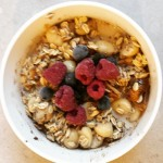 Fig, cinnamon, blueberry, raspberry overnight oats