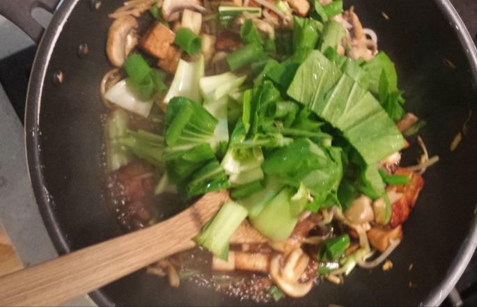 Add in boy choi and stir fry