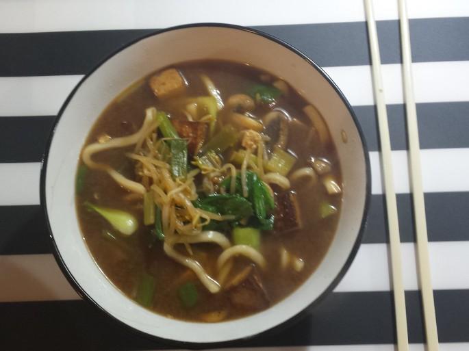 Delicious ramen noodles