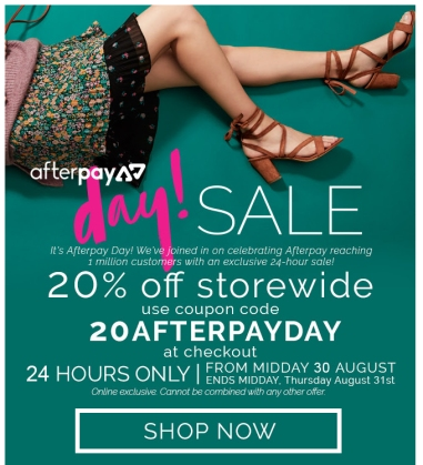 Afterpay Day eDM design