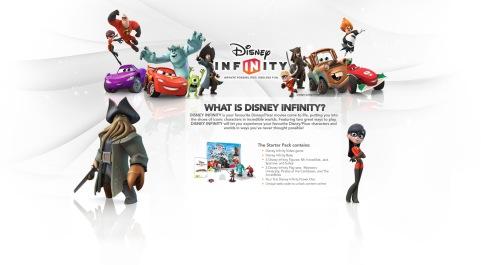 Disney Infinity landing page