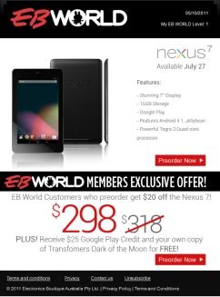 Google Nexus edm design
