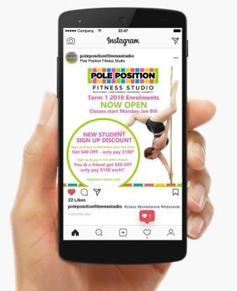 Pole Position Fitness Studio - Instagram graphic