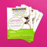 Pole Position Fitness Studio Flyers